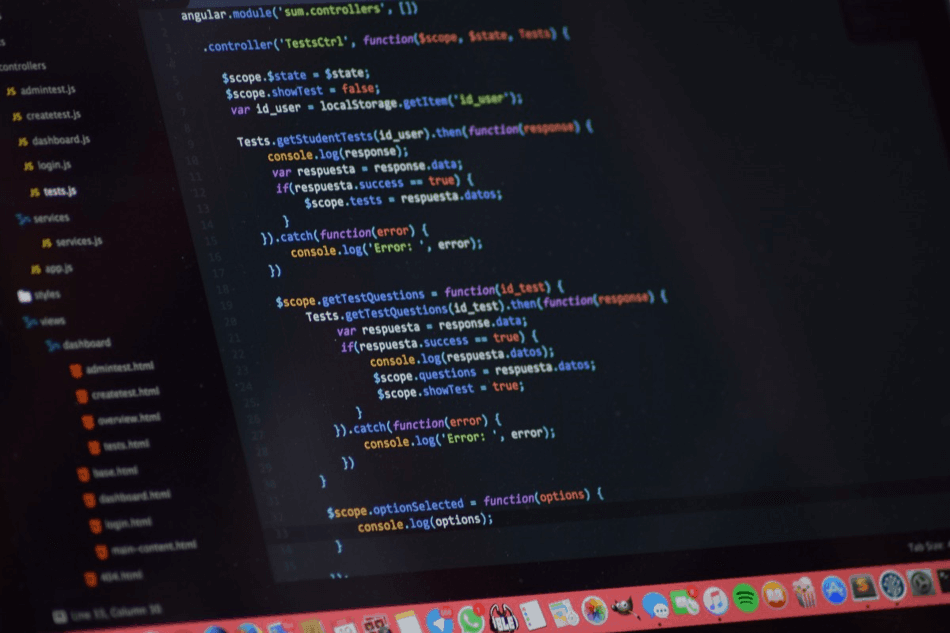 Screenshot of a web programming application