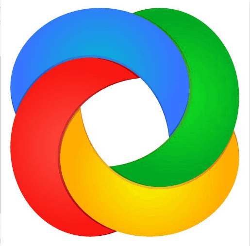ShareX symbol—green, blue, yellow and red entangled circles