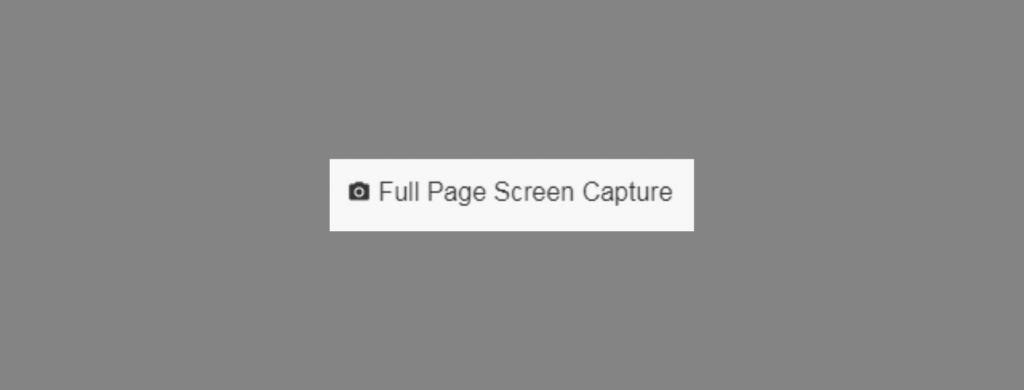 A black camera icon with 'Full Page Screen Capture' written next to it