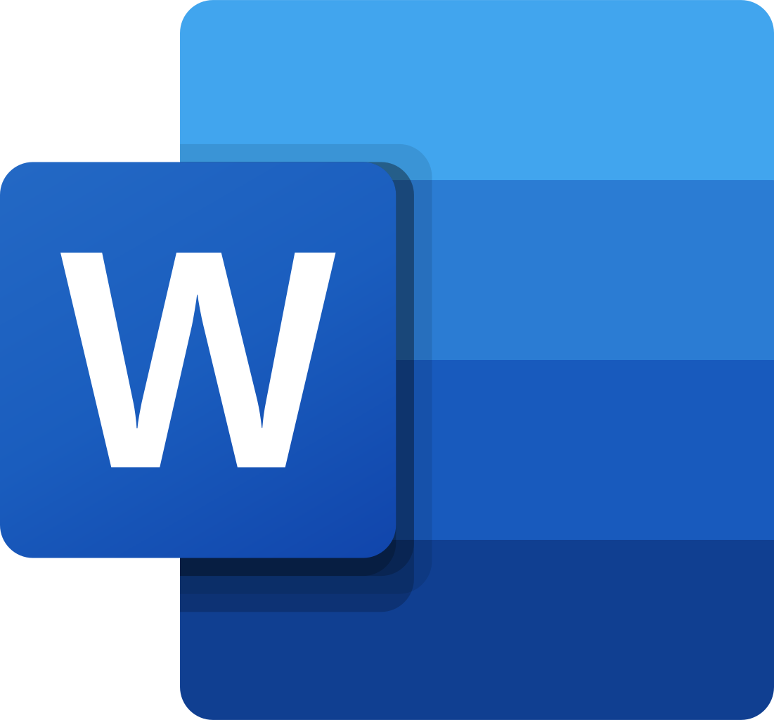 MS Word icon of latest versions